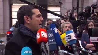 Δήλωση του Πρωθυπουργού Αλέξη Τσίπρα κατά την άφιξη στη Σύνοδο Κορυφής thumbnail