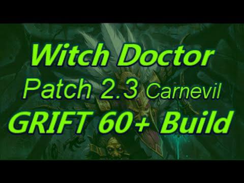 (Mechanics Changed)Witch Doctor Patch 2.3 Carnevil Poison Dart Build Diablo 3 Reaper of Souls