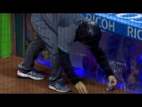 J.T. Realmuto Cracks Fish Tank Behind Home