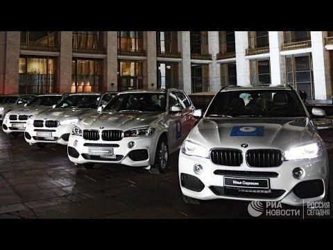 Вручение автомобилей российским олимпийским призерам