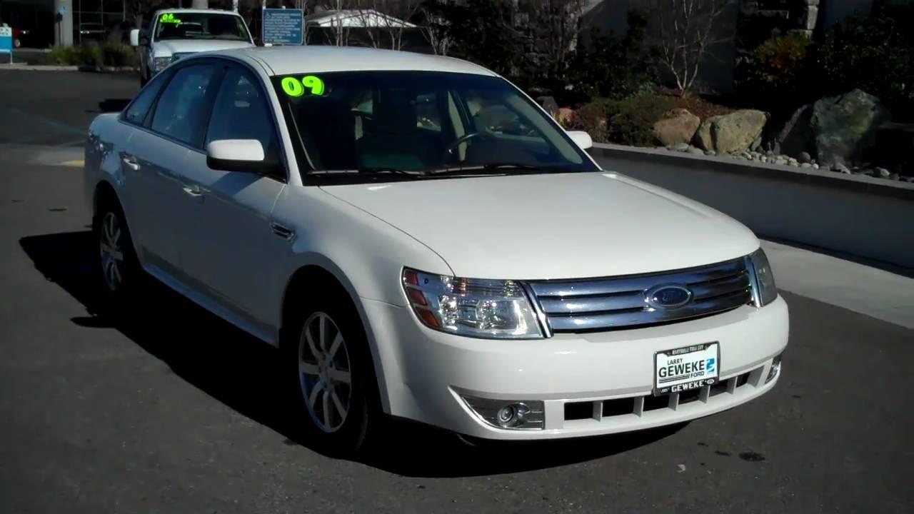 2009 Ford Taurus SEL Super Clean! Pearl White - YouTube