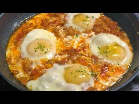 Eggs with Tomatoes & Potatoes   Easy Afghani Style Breakfast   Easy Breakfast