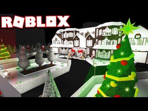 CHRISTMAS COLORADO CABIN!!!   Subscriber Tours (Roblox Bloxburg)