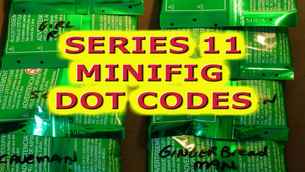 7011 LEGO series 11 minifigures dot codes review - YouTube