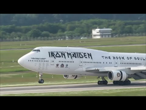 "Iron Maiden ""ED Force One"" Boeing 747-400 Arrival at Düsseldorf Airport 