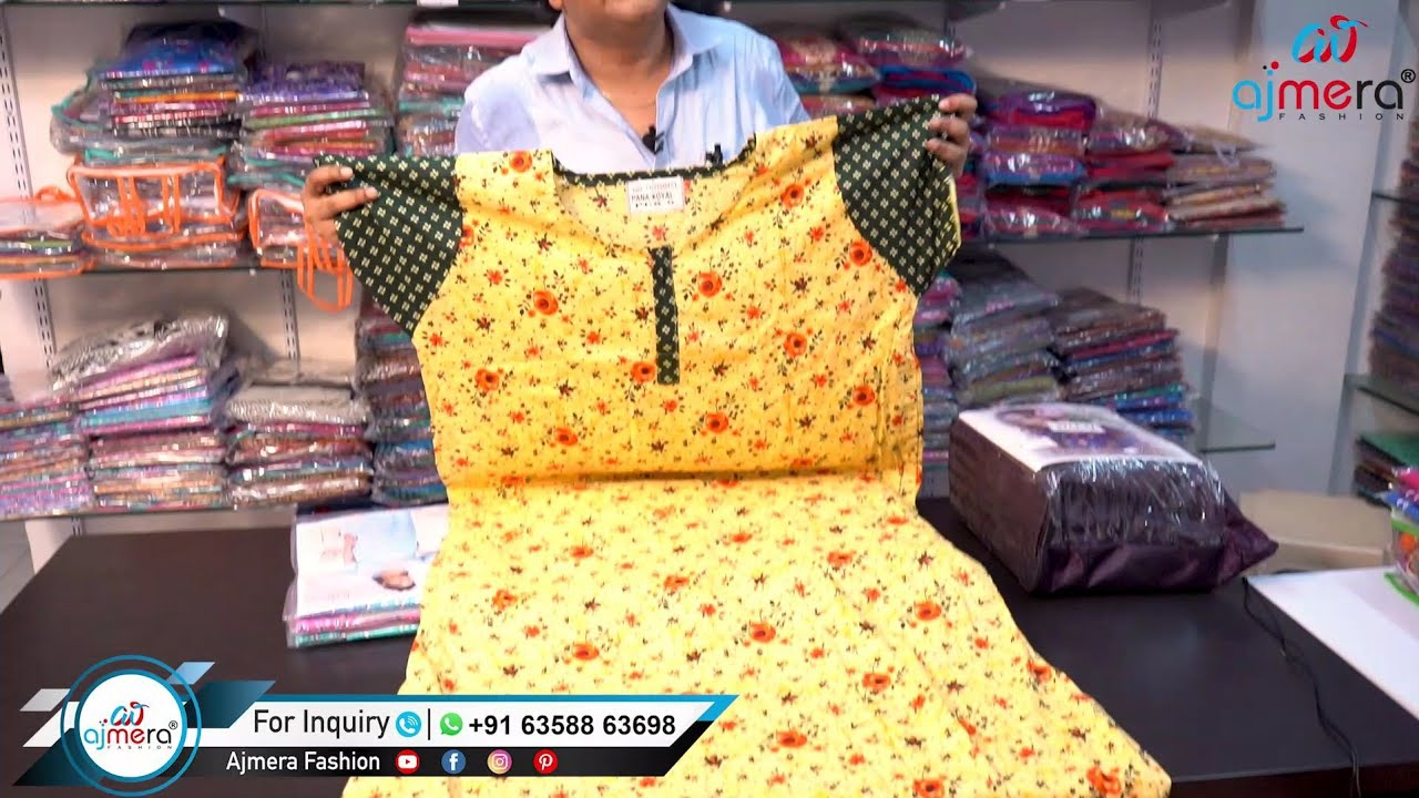 Designer Nighty's, night dresses from Manufacturers for your business Factory  Ajmera Fashion-Surath