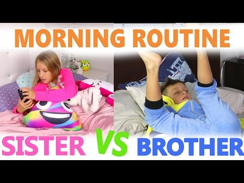 Morning Routine / Sister vs Brother thumbnail