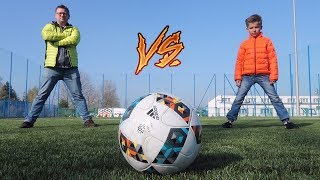Son vs Dad Football / Soccer Challenge