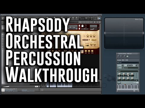 Rhapsody: Orchestral Percussion - Screencast / Full Walkthrough by Andrew Aversa - Kontakt Library