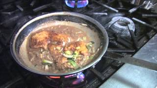 Chicken with mustard sauce dinner recipe idea Daddy Jack's style