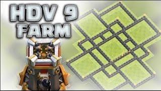 LE MEILLEUR VILLAGE HDV 9 (DEFENSIVE/RUSH/SPEED BUILDING) (Clash of clans )-FR
