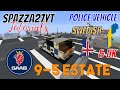 Minecraft Saab 9-5 Estate Swedish & UK Police Vehicle Tutorial