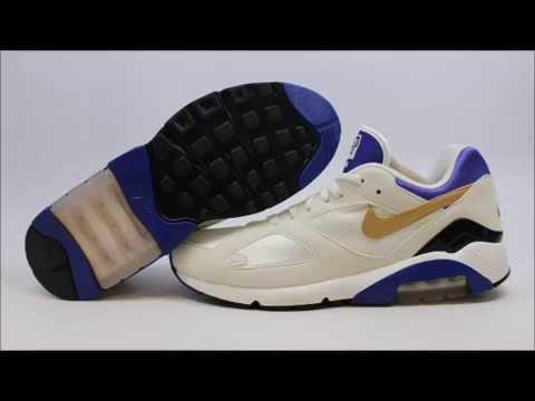 14b6827ac8 Nike Air Max 180 QS 626960-175 KixRx.com White/Gold-Concord Mens ...