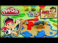 ♥ Play-Doh Jake and the Neverland Pirates Treasure Map & Chest Gold Creations (PlayDoh Set for Kids)