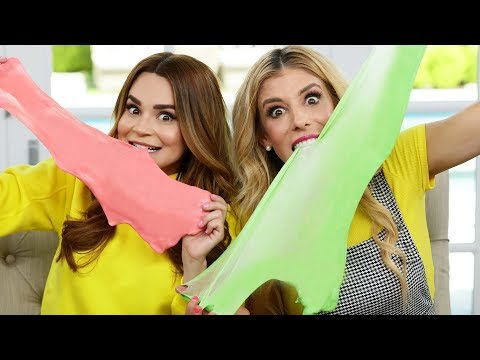 Trying Edible Slime Recipes! w/ Rebecca Zamolo