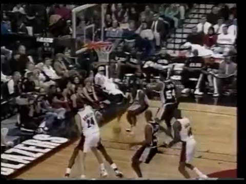 David Robinson (39p/9r/8b) - Highlights vs Arvydas Sabonis/Trailblazers 1995/96 season