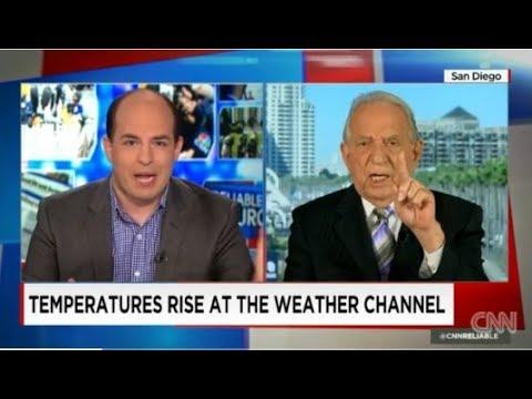 Zakladateľ Weather Channel a vedec John Coleman, vysvetľuje  globálne otepľovanie moderátorovi CNN