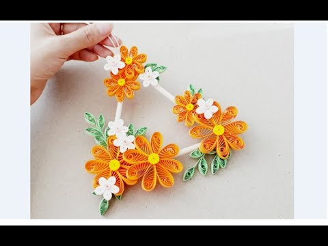 Diy Paper Quilling Wall Decoration 11 Quilling Wall Mobile Quilling Flower