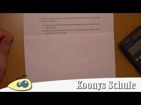 7000 A4 | Einfache Textaufgabe Sinus, Kosinus, Tangens ...