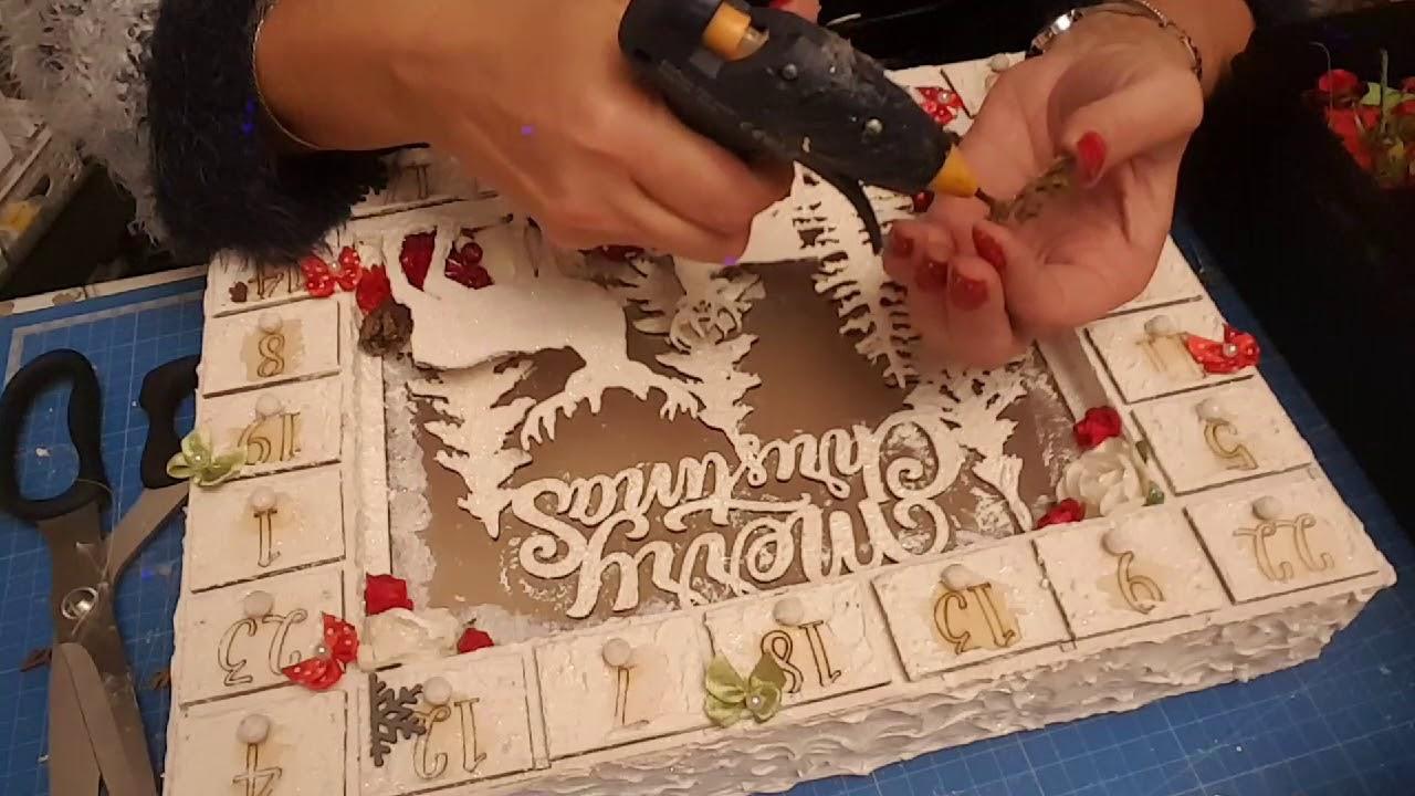 Calendrier De Lavent En Bois A Decorer Pas Cher.Decoration Du Calendrier De L Avant Lumineux De Chez Action Partie 3