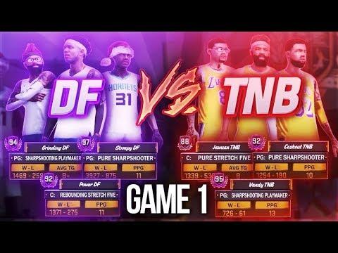 DF VS TNB - INTENSE CLAN BATTLE VS NADEXE CLAN! (POWER VS VANDY) NBA 2K18