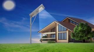Солнечный светодиодный светильник Солярис //Высокое качество// Уличный фонарь с датчиком движения(, 2016-01-07T22:04:07.000Z)