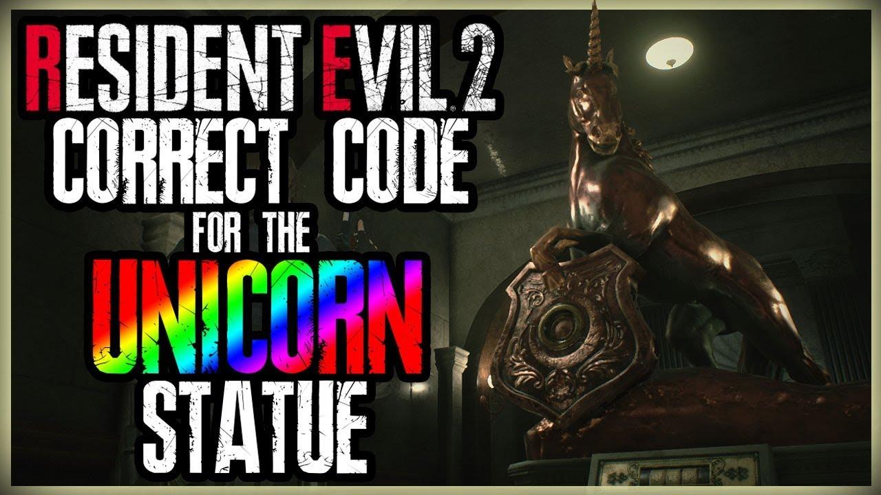 resident evil 2 statue code
