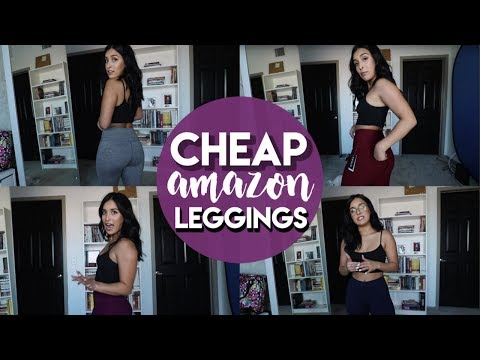 TESTING CHEAP AMAZON LEGGINGS | $20 Or LESS