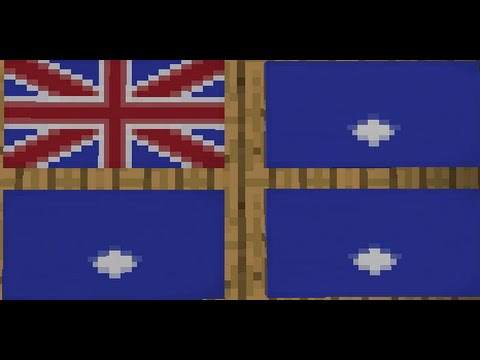 How to make the National Flag of Australia [AUS]//Minecraft - YouTube