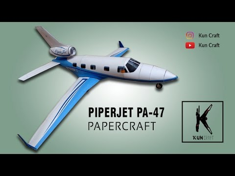 How to make PA-47 PiperJet Papercraft