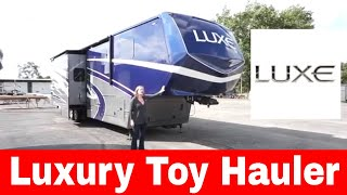Luxe 44FB Toy Hauler fifth wheel - Luxury toy hauler