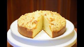 Пирог со свежими персиками ✧ На сметане