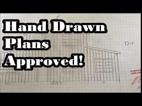 Hand Drawn Floor Plans Approved!!! We got our permit!