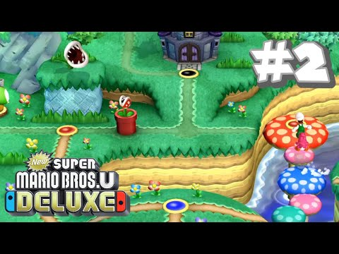 New Super Mario Bros U Deluxe #2 - Acorn Plains (Part 2)