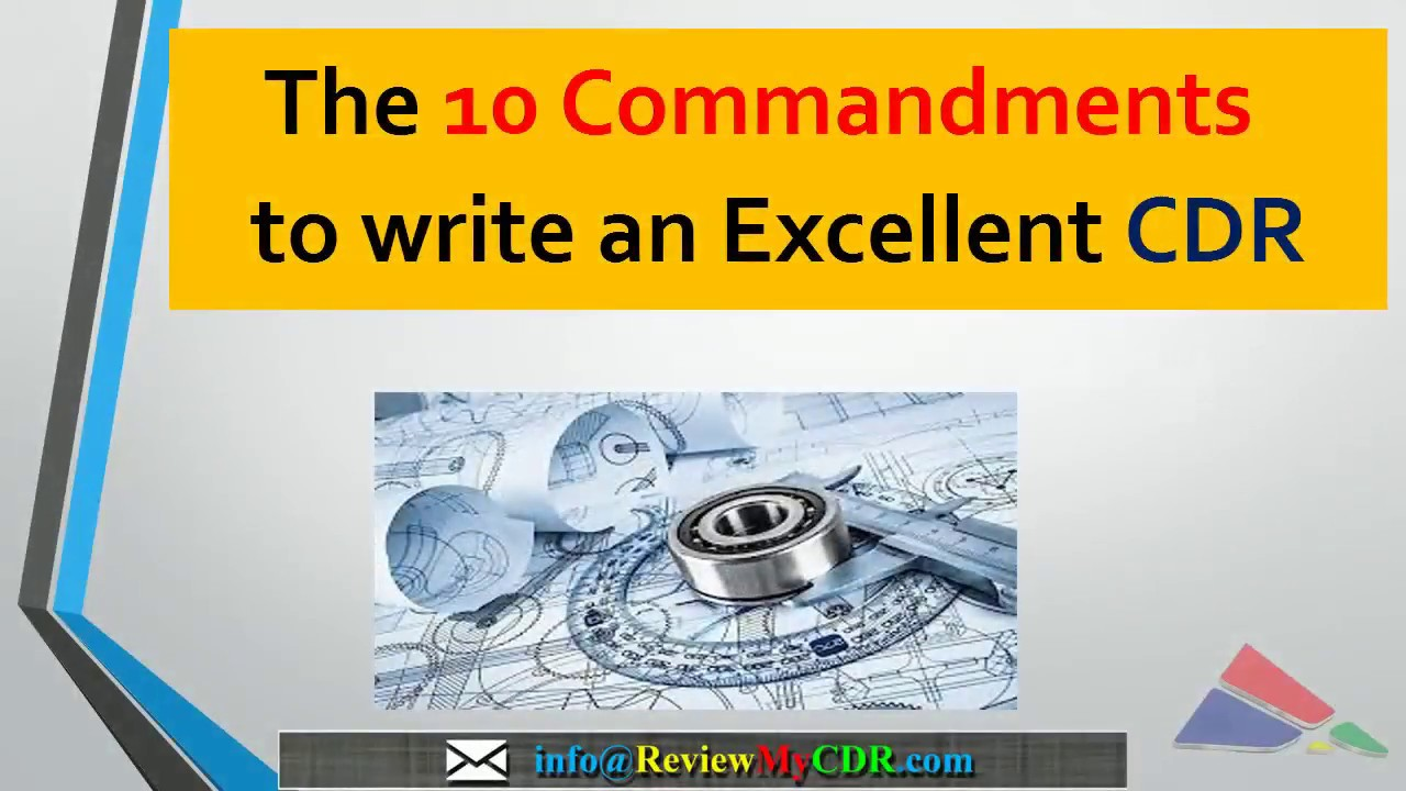the 10 commandments to write an excellent cdr for