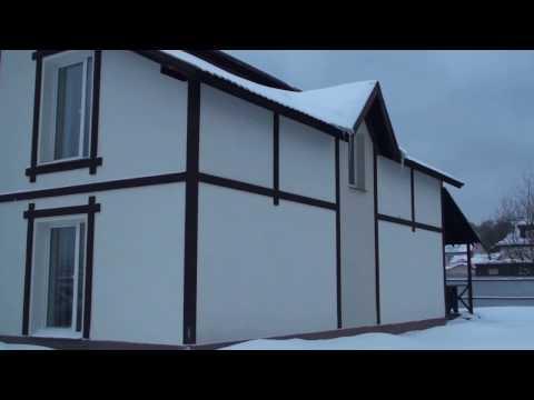 Фахверки на фасаде дома, утеплённого пенопластом, система Ceresit