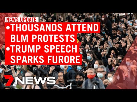 7NEWS Update Saturday, June 6: Thousands Attend Black Lives Matter Marches, New Trump Gaffe | 7NEWS