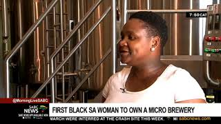 First black SA woman to own a micro brewery   Apiwe Nxusani-Mawela