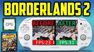 PS Vita Borderlands 2 Before & After CPU/GPU Overlock!