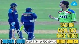 SACHIN & KAPIL DEV Entertaining Partnership vs PAKISTAN !! RARE VIDEO !!