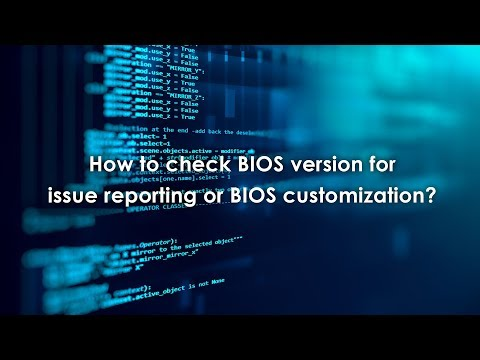 How to check BIOS version for issue reporting or BIOS customization?