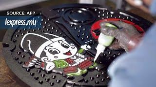 Japon: quand les plaques d'égout deviennent des œuvres d'art