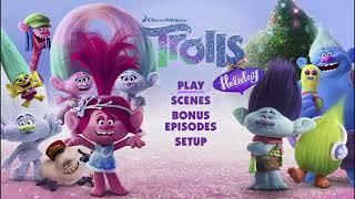 Trolls Holiday 2017 DVD menu walkthrough