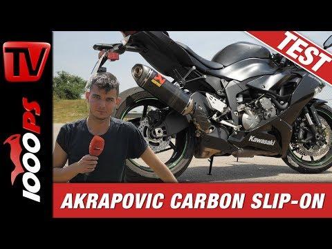 Akrapovic Carbon Slip-On für die Ninja ZX-6R 2019 - Sound Check!