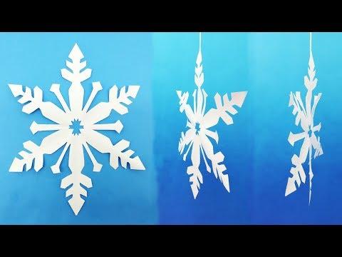 Voluminous paper snowflake do it yourself - How to Make Paper Snowflake Easy Diy Tutorial