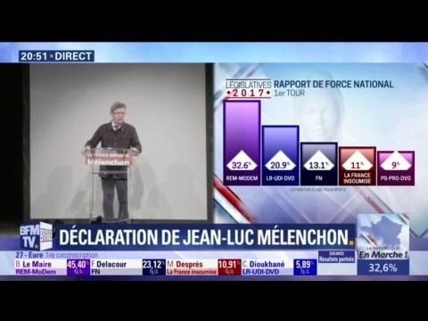 """Mélenchon : """"L'abstention montre qu'il n'y a pas de majorité pour détruire le code du travail"""""""