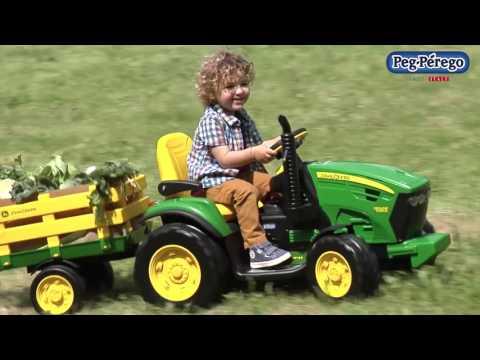 Peg Perego John Deere Ground Force Akülü Traktör