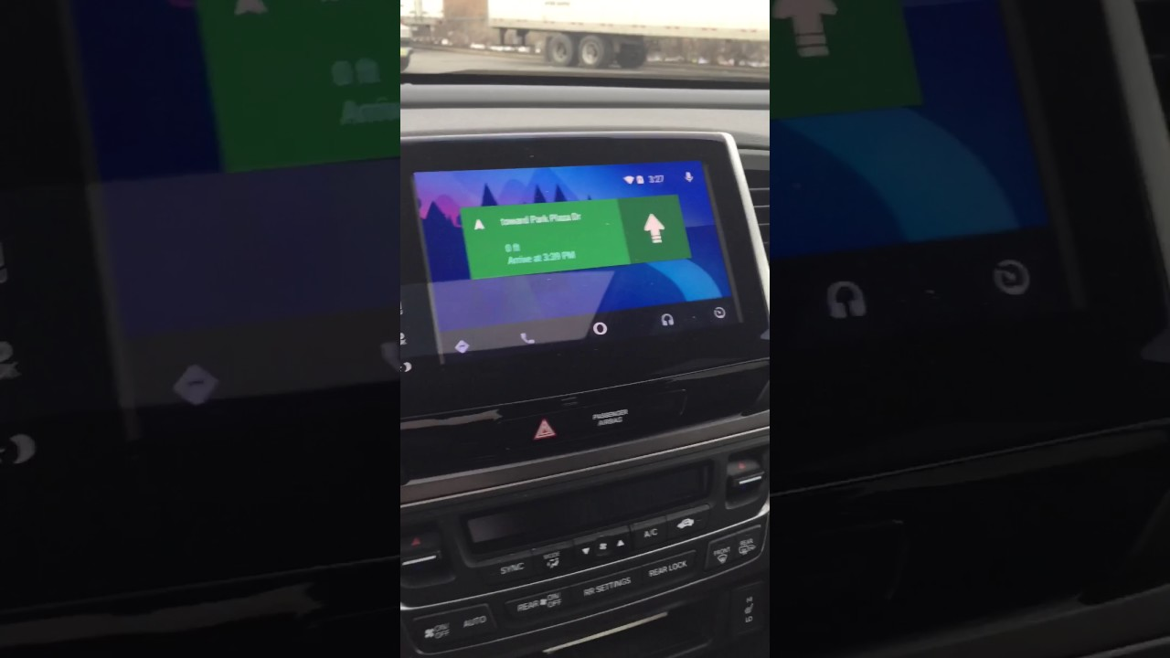 android auto apple carplay  honda pilot modified youtube