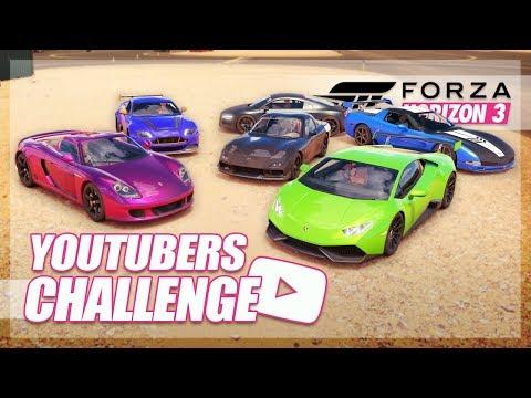 Forza Horizon 3 - YouTuber Cars Challenge! (Salomondrin, Vehicle Virgins, Shmee150, & More!)