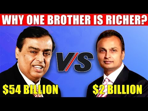 Why Mukesh Ambani is Richer than Anil Ambani? EXPLAINED!
